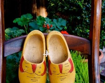 vintage children's clogs Holland
