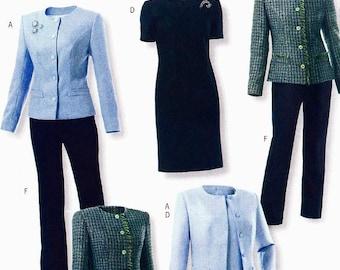 Butterick 4355 Jacket Top Dress Skirt Pants Size 16-18-20-22 Lifestyle Wardrobe (uncut) sewing pattern
