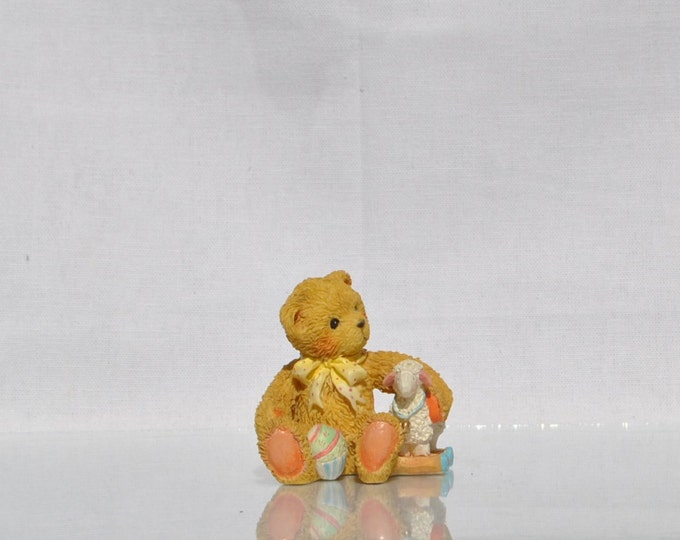 "Vintage Cherished Teddies Collectible ""Chelsea"" 1992, Enesco, Priscilla Hillman (Rare) Collectible Figurine, Teddy Bear Figurine, Bears"