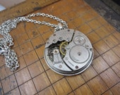 Steampunk Necklace made with a Vintage New York Standard Watch Co. Watch Movement.  #770