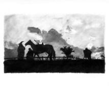 GANDALF, FRODO and SAM leave The Shire