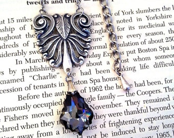 Swarovski Crystal Pendant Necklace, Baroque, Rococo, Victorian, Renaissance, Gothic jewelry, Gift For Her