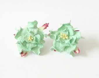 10 pcs - 4 cm Mint gardenia flower