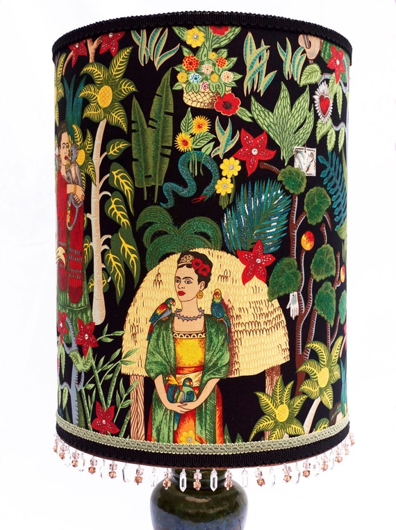 Large Tall Frida Kahlo Luxury Lampshade With By Lovekittypink