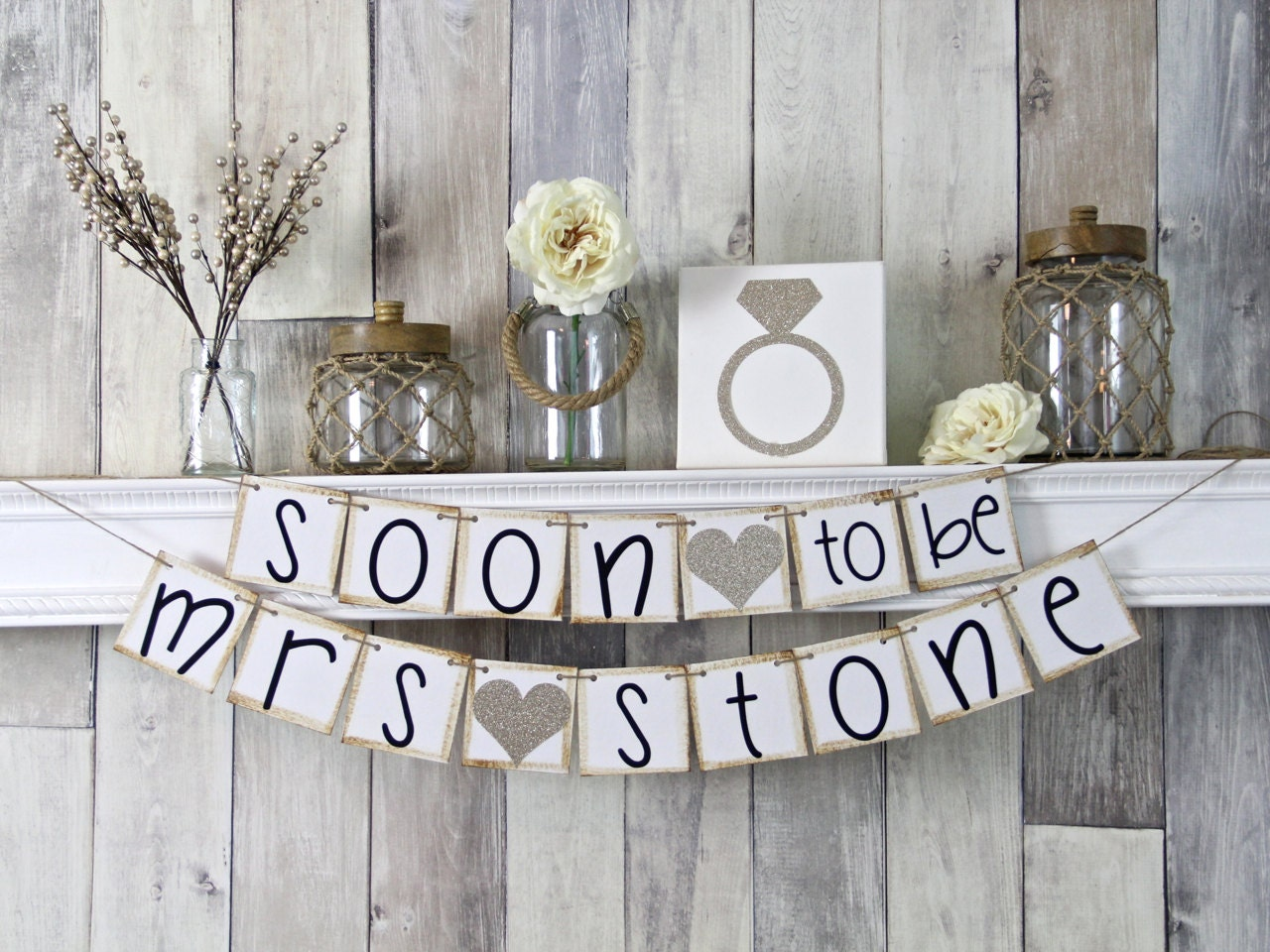 Soon To Be Mrs Soon To Be Banner Bridal Shower Banner