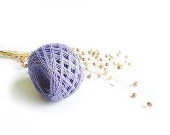 Lavender linen yarn, linen thread, linen natural 3ply yarn, thick yarn, crochet yarn