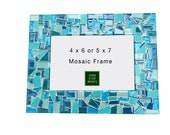 Teal Mosaic Picture Frame