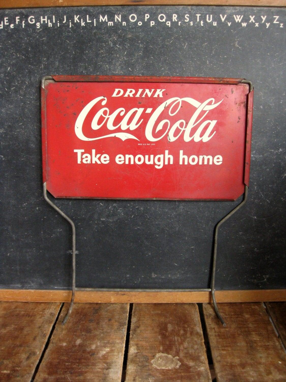 Vintage Coca Cola Sign From 1950s Coke Bottle Rack Sign