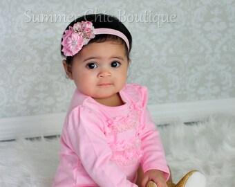 Baby Headband, Infant Headband, Newborn Headband, Easter Toddler Headband, Spring Baby Headbands, Flower Headband, Easter Headband
