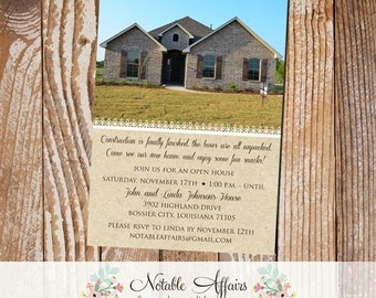 Home Sweet Home New Home Housewarming Open House Invitation or Announcement