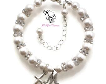 Personalized Baptism Bracelet, Keepsake Bracelet, Baby Gift, Christening Gift, Baptism Gift, First Communion Gift, Baby Bracelet, New Baby