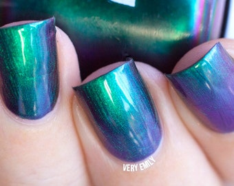 Mega Multichrome(Obsession)  Multi-Color Shifting Polish:  Custom-Blended Glitter Nail Polish / Indie Lacquer / Polish Me Silly