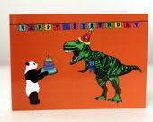 Dinosaur Birthday Card Jurassic Park birthday card jurassic World birthday card