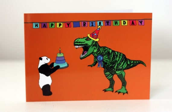 Dinosaur Birthday Card Jurassic Park birthday card jurassic World birthday card
