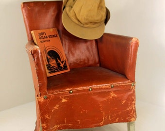 "True Antique ""Stuffed"" Child's Chair American Chair Company of Sheboygan, Wisconsin Rustic"