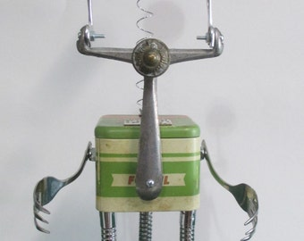 HAMMERHEAD- Found object robot sculpture~assemblage