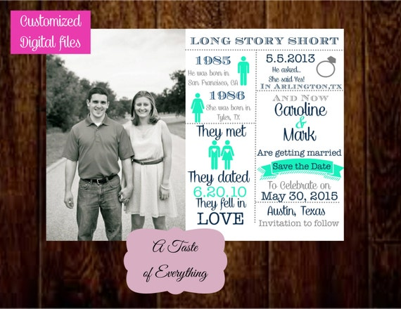Long Story Short Save The Date PRINTABLE By Atasteofeverything