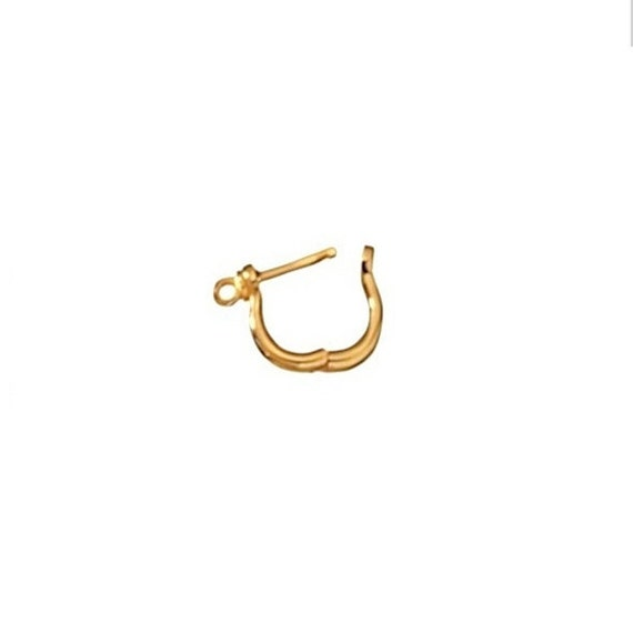 solid gold shackle earring sailor snap posts by