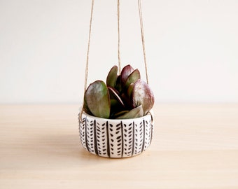 Ceramic hanging planter for succulent, Ceramic hanging plant pot, Ceramics and pottery, Pottery hanging planter, Cacti hangin planter