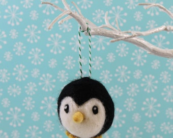Penguin Christmas Decoration Handmade Needle Felted ornament