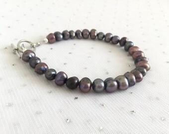 Real Freshwater Pearl Bracelet, Freshwater Pearls Jewelry, Real Pearl Bracelet Jewelry, Unique Jewelry, Freshwater Pearl Beaded Bracelet