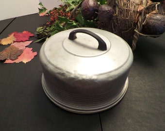 Vintage Metal Cake Dome Carrier