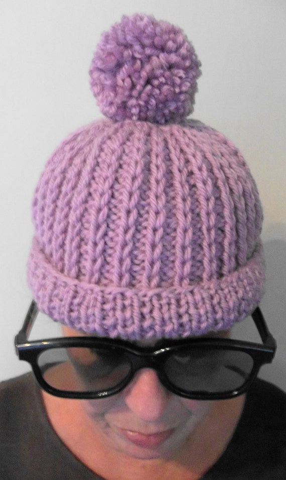 Knitting Pattern For Bobble Hat : Bobble Hat. PDF Knitting Pattern. by TheDesignStudioKnits on Etsy