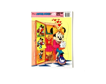 Vintage Disney Frame Tray Puzzle Minnie Mouse