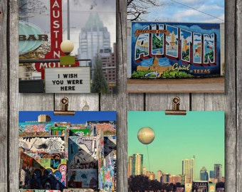City of Austin Set - Collection of 4 Prints - Cityscapes - Urban Scenes - Austin, TX - Fine Art Photography Prints