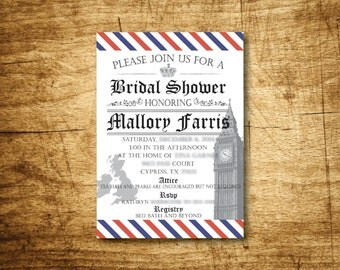 British Bridal Shower Invitation