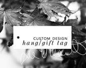 Custom Product Tag Design, Custom Printed Tag Design, Gift Tag Design, Hang Tag Design, Label Tag Design