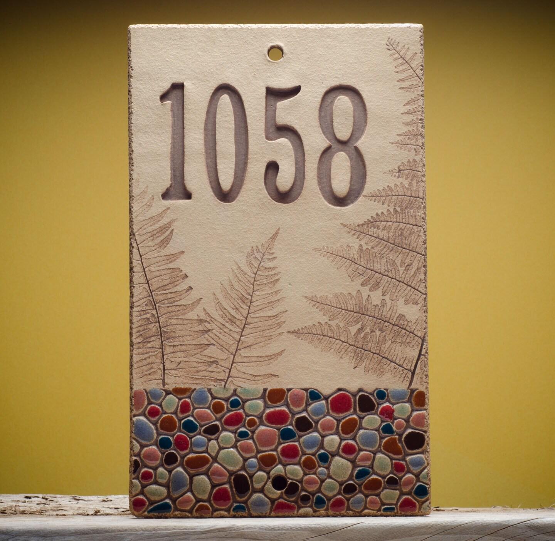 ceramic house number sign for outdoor custom by marionpollmann. Black Bedroom Furniture Sets. Home Design Ideas