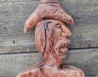 Slim, A Sycamore Cowboy Carving