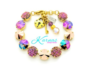 GOLD RUSH 12mm Crystal Rivoli Bracelet Made With Swarovski Elements *Pick Your Finish *Karnas Design Studio *Free Shipping*