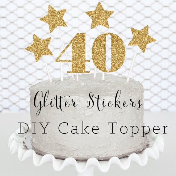 40 cake topper 40th birthday cake topper 40th birthday for 40 birthday decoration ideas