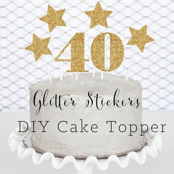 40 cake topper 40th birthday cake topper 40th birthday for 40 birthday decoration ideas