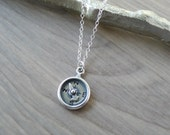 Sterling Silver Compass Necklace, Nautical Necklace, Explore, Adventure, Not all who wander are lost