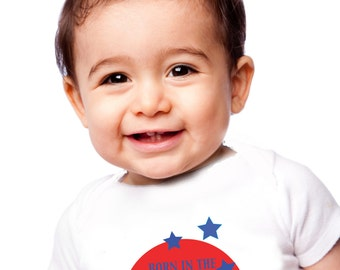 Baby onesie born in the USA