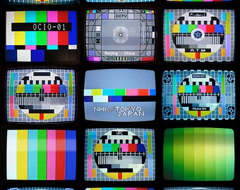 TV TEST SCREENS Fine Art Travel Photography Print 11 x 14 Inches