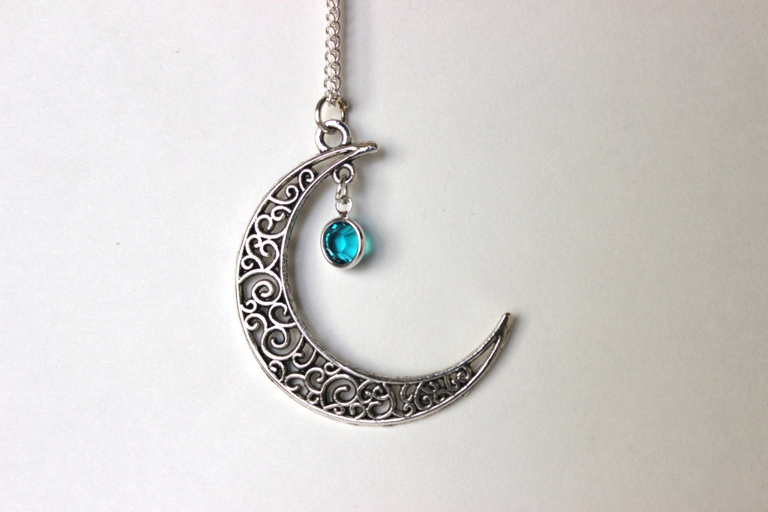 crescent moon necklace crescent moon pendant by