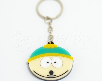 FREE SHIPPING - Eric Cartman South Park Keychain | Laser Cut South Park Character