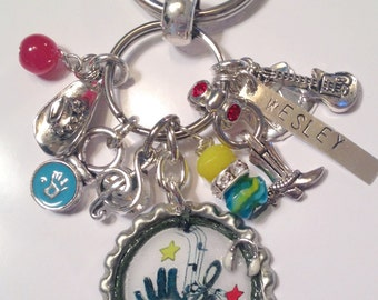 Personalized Bottlecap Keychain ~ TattooWesley