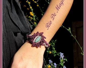 Green Jade Bracelet. Macrame hipoalergenic jewelry. Macrame guatemala jade. Imperial Jade bracelet. Macrame bracelet.