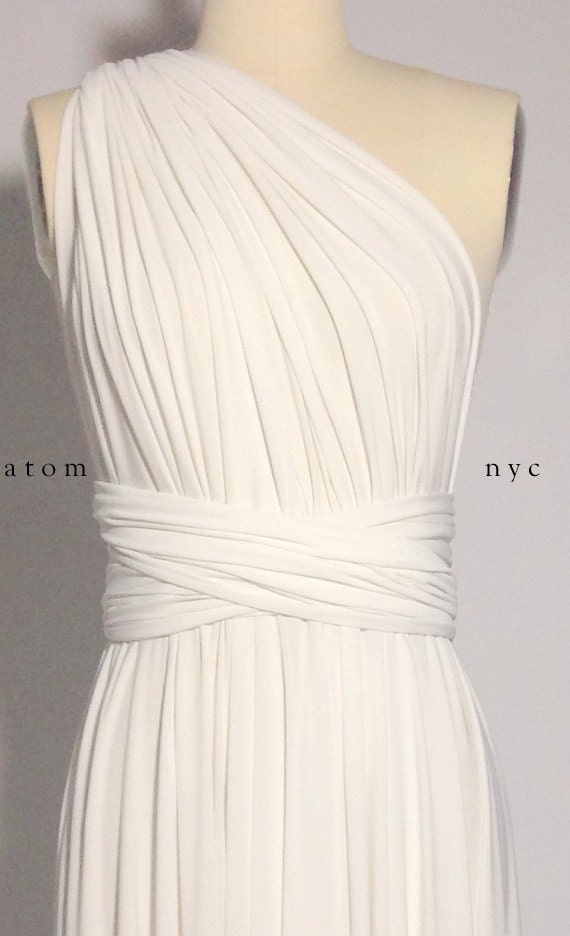 Short off white evening dresses