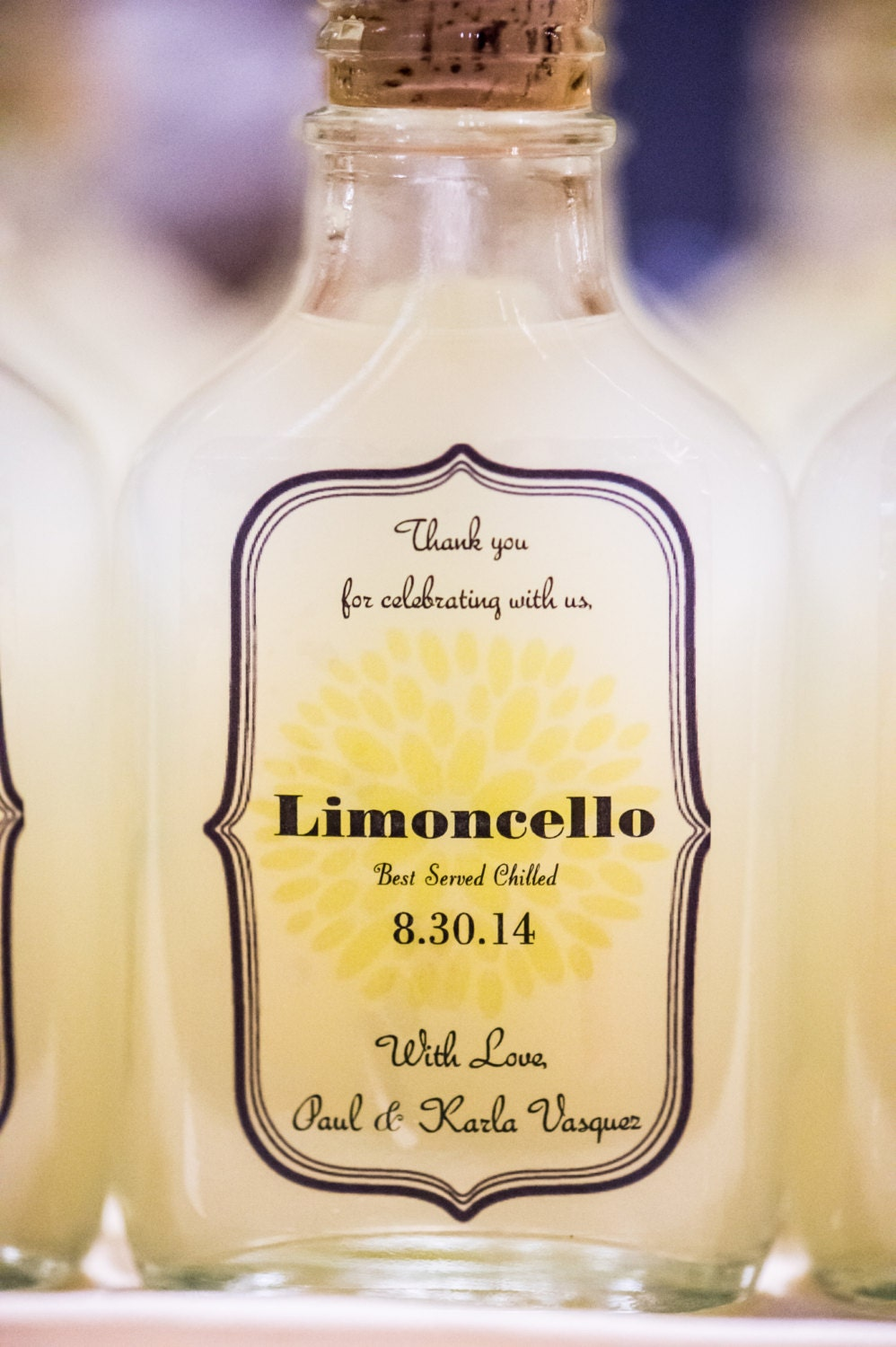 Custom Limoncello Labels Amp Bottles Great For Wedding Favors