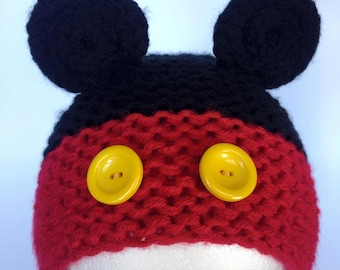 Mickey Mouse inspired knit hat