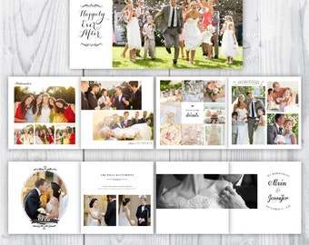 wedding album / custom wedding album / wedding album template / wedding album photoshop template / 12x12 wedding album template / INSTANT