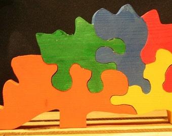 Large Multi Colored Dinosaur Puzzle