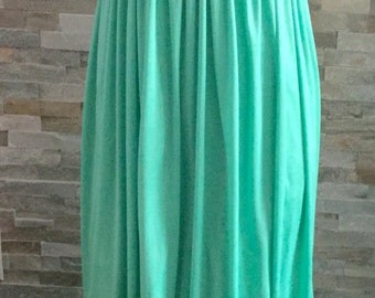 1970's maxi dress with pearl detailing in Mint green