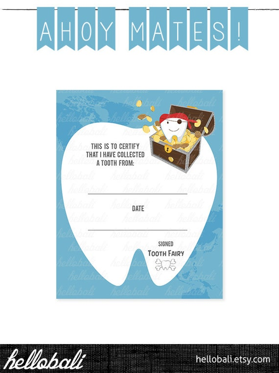 Boy Tooth Fairy Certificate For Girls